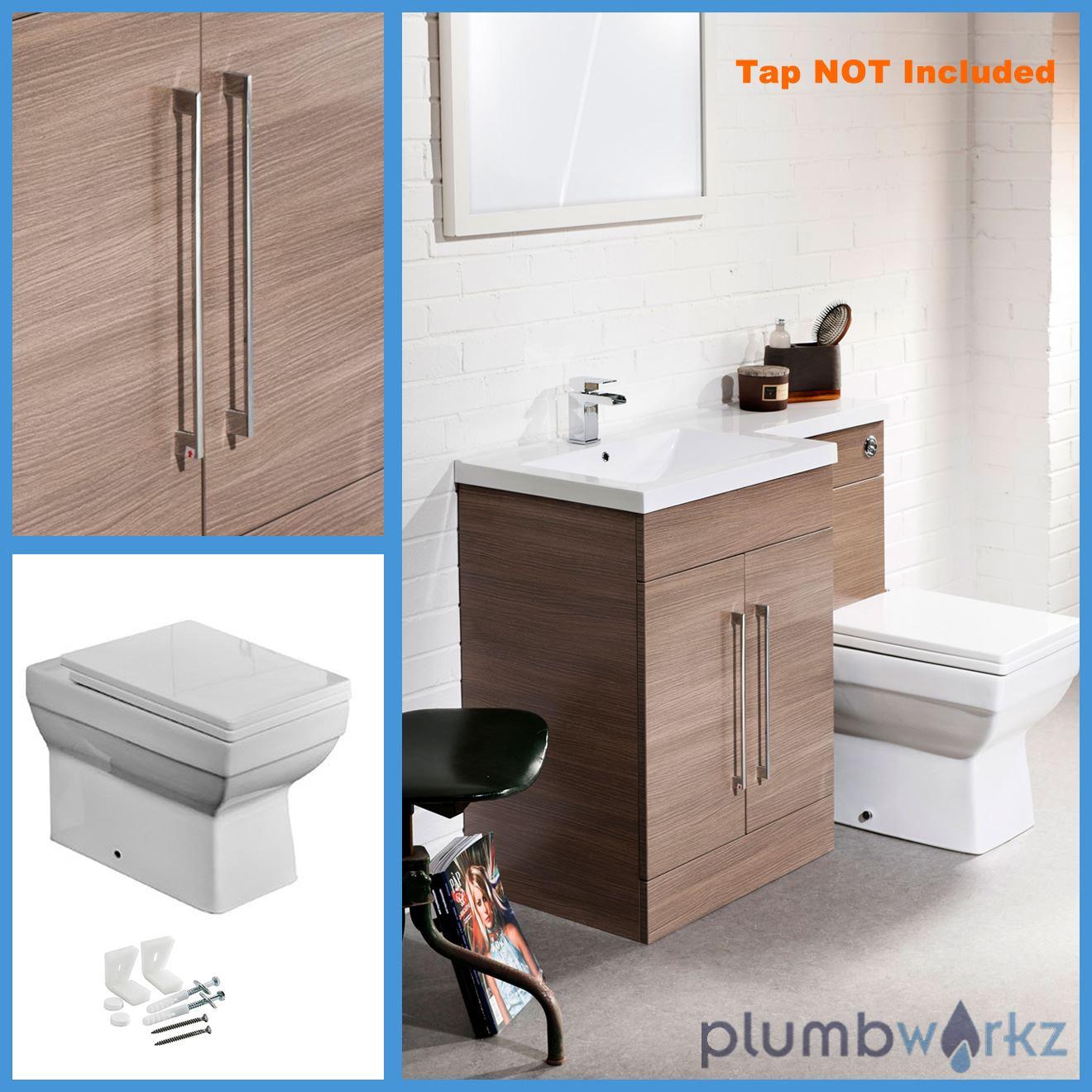 Walnut bathroom furniture - L Shape Walnut Amp Oak Bathroom Furniture Suite