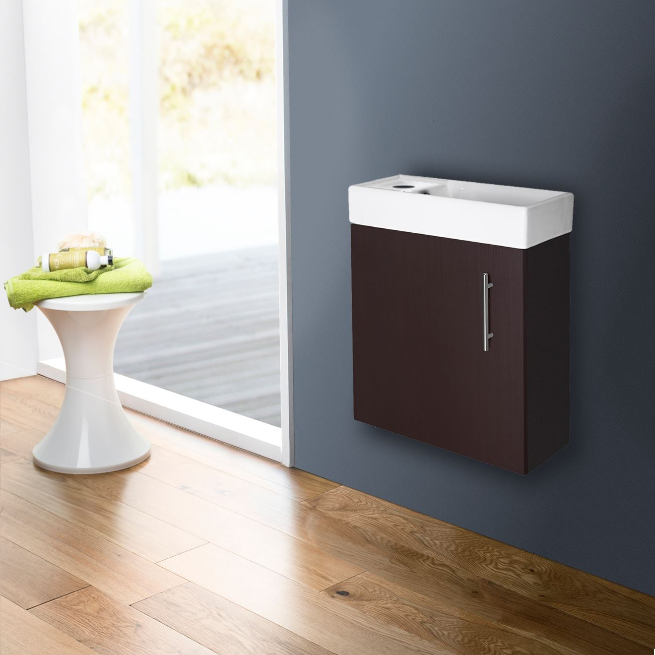small vanity unit with sink. Compact Bathroom Vanity Unit Amp Basin Sink Cloakroom  400mm Wall Hung