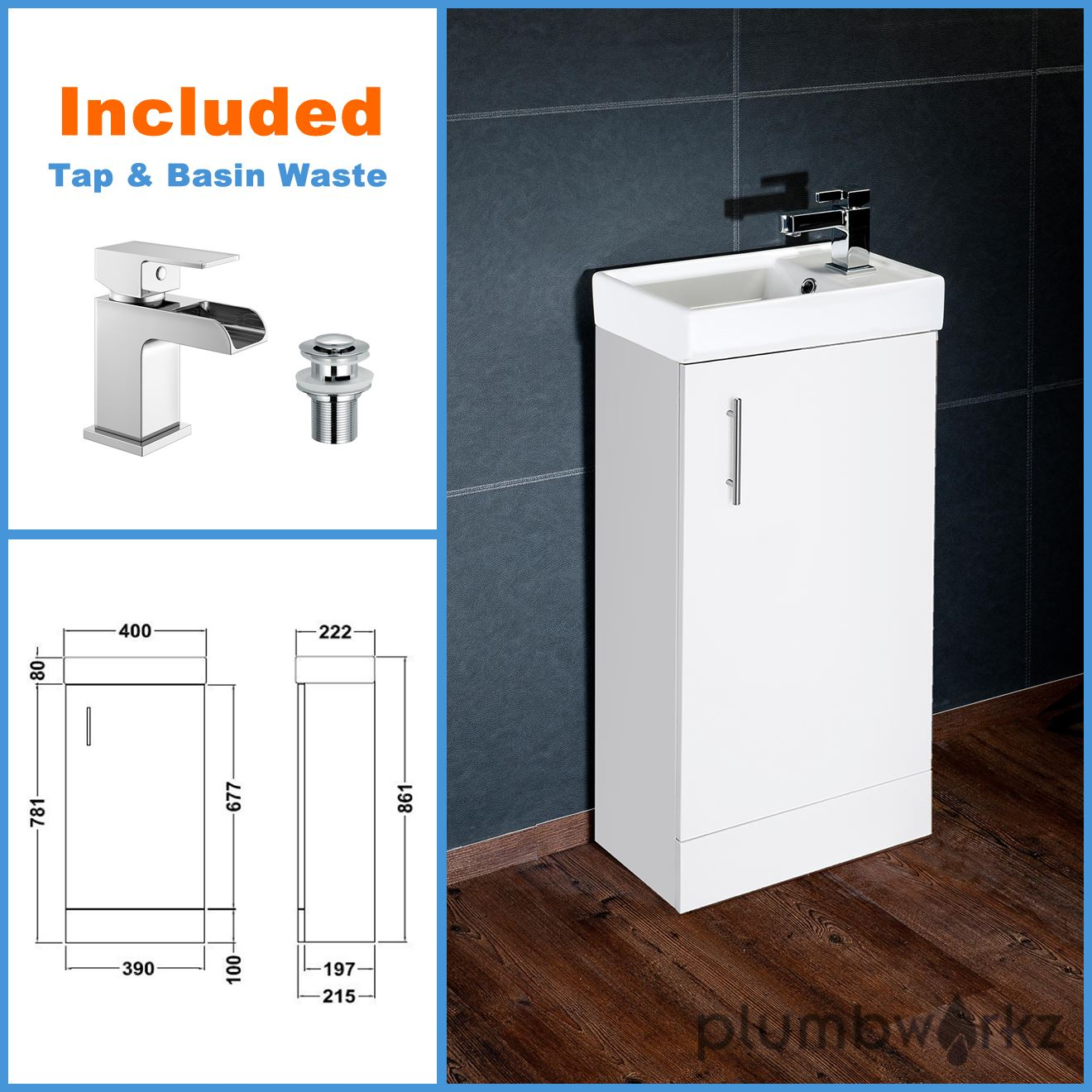 bathroom sink vanity unit compact bathroom vanity unit amp basin sink vanity 400mm 16605