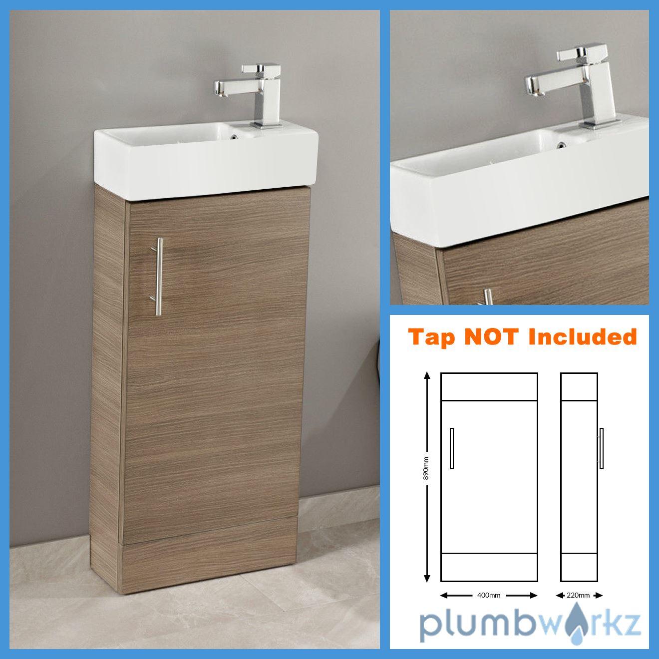 400mm bathroom vanity unit basin ceramic sink cloakroom for Bathroom cabinets 400mm high