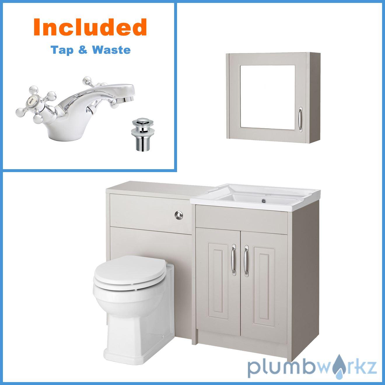 Traditional Vanity Unit 600 Basin Sink WC Unit