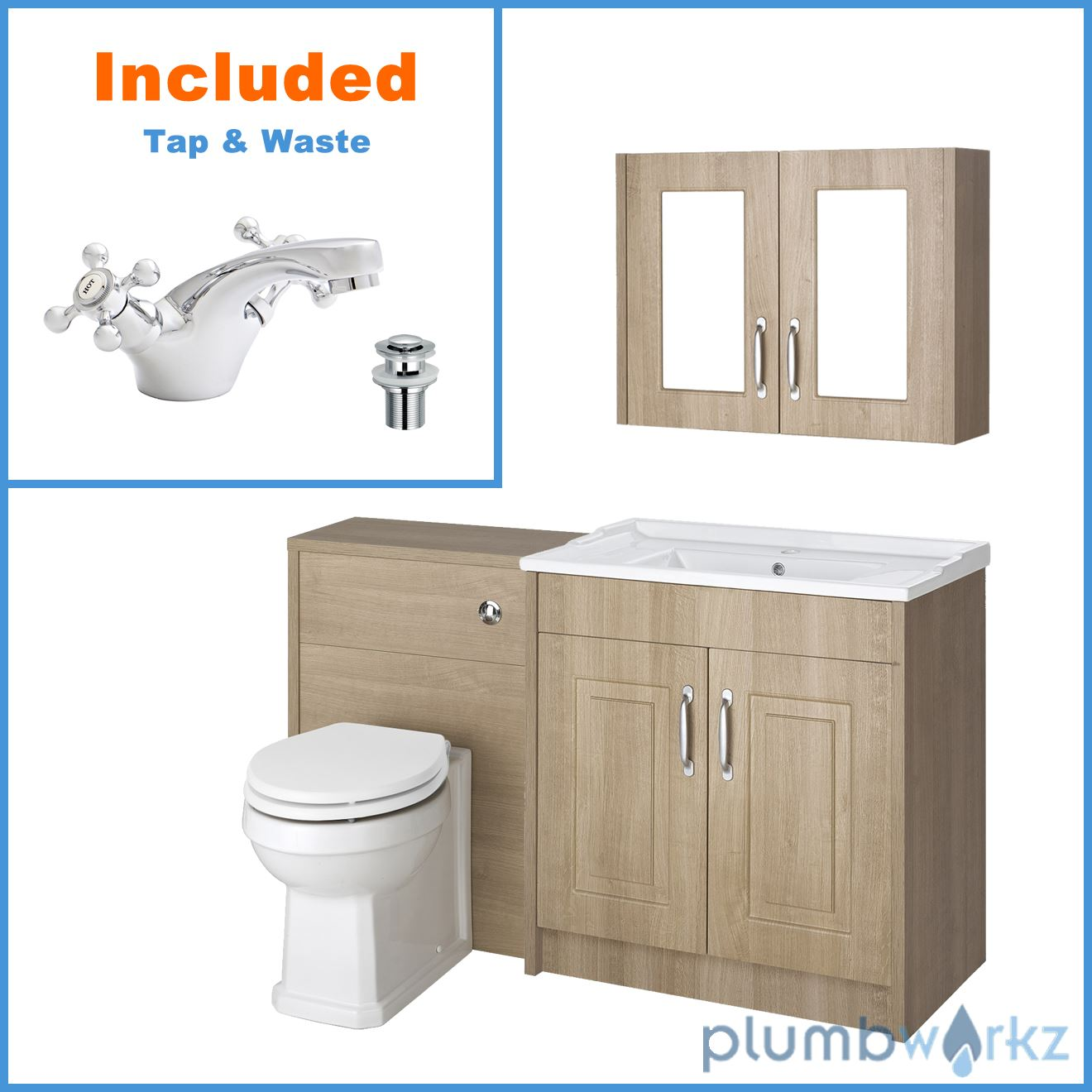 Traditional vanity unit 800 basin sink wc unit concealed for Bathroom cabinet 800