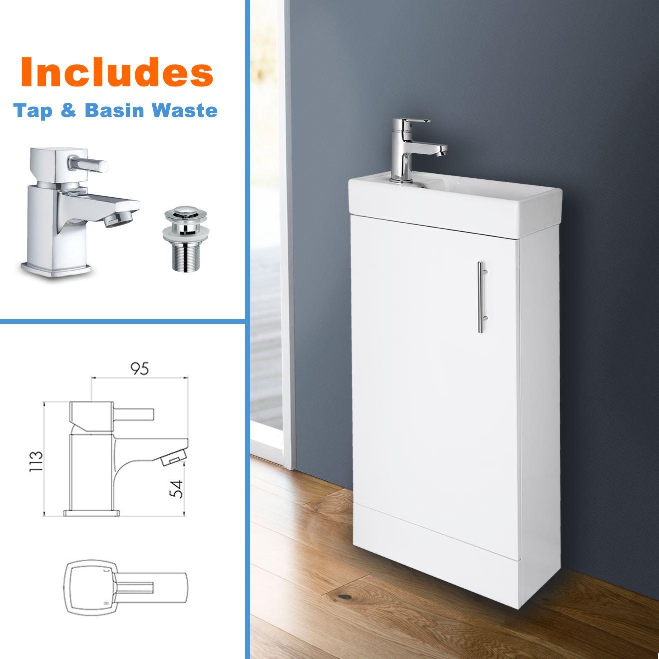 Bathroom Vanity Units white bathroom vanity unit ceramic basin sink oak ebony storage