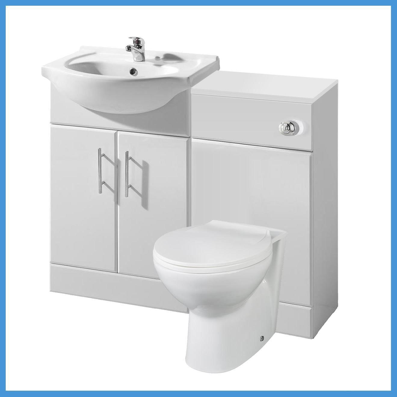 L Shaped Bathroom Suite 1700 Bath 550 Vanity Unit Btw Toilet Wc Taps Shower Ebay