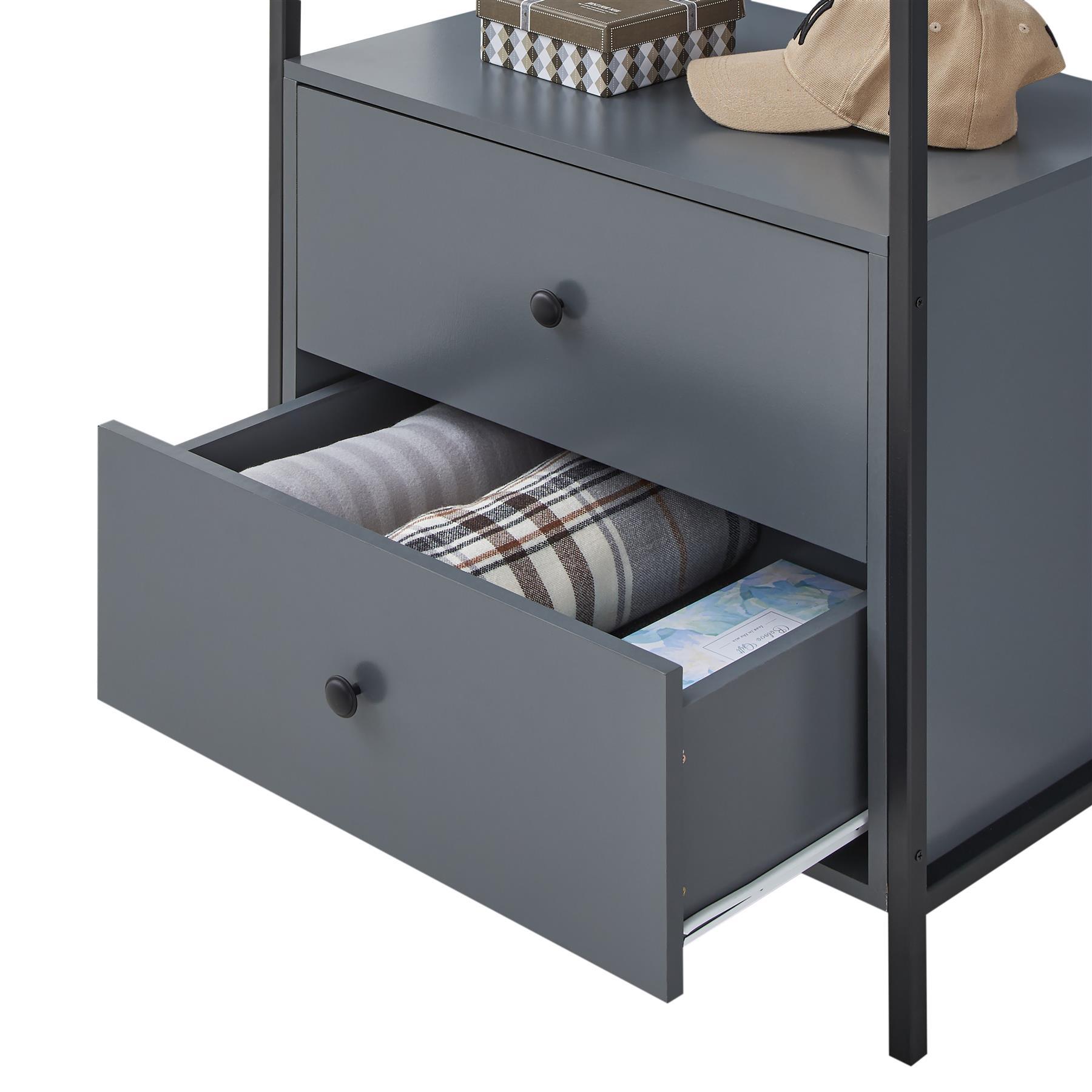 Zahra Bedroom Furniture Open Wardrobe Drawers Cabinet ...