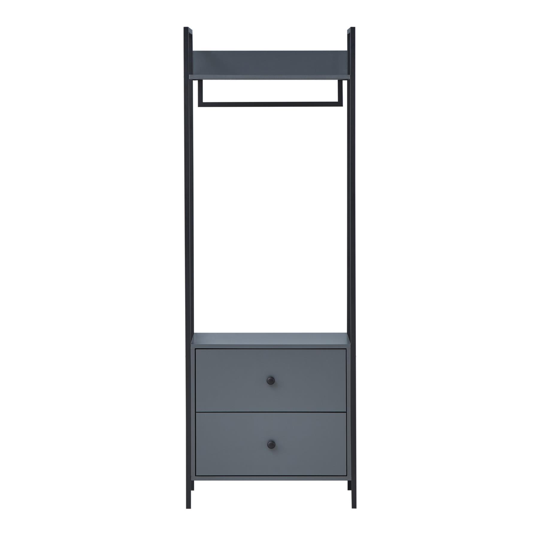 Zahra Bedroom Furniture Open Wardrobe Drawers Cabinet Modern Storage