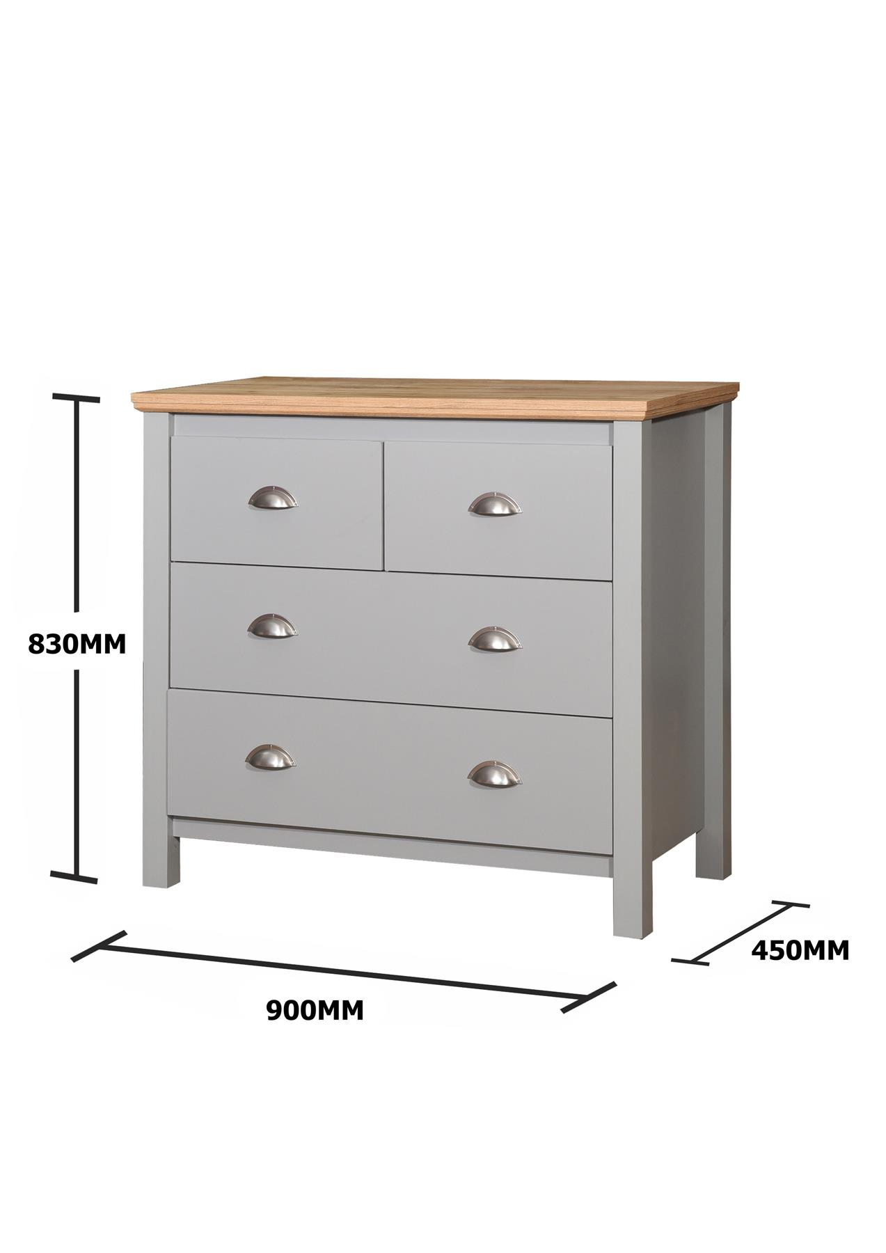 Stool Bedside Table: Eaton Grey Bedroom Furniture Bedside Wardrobe Chest