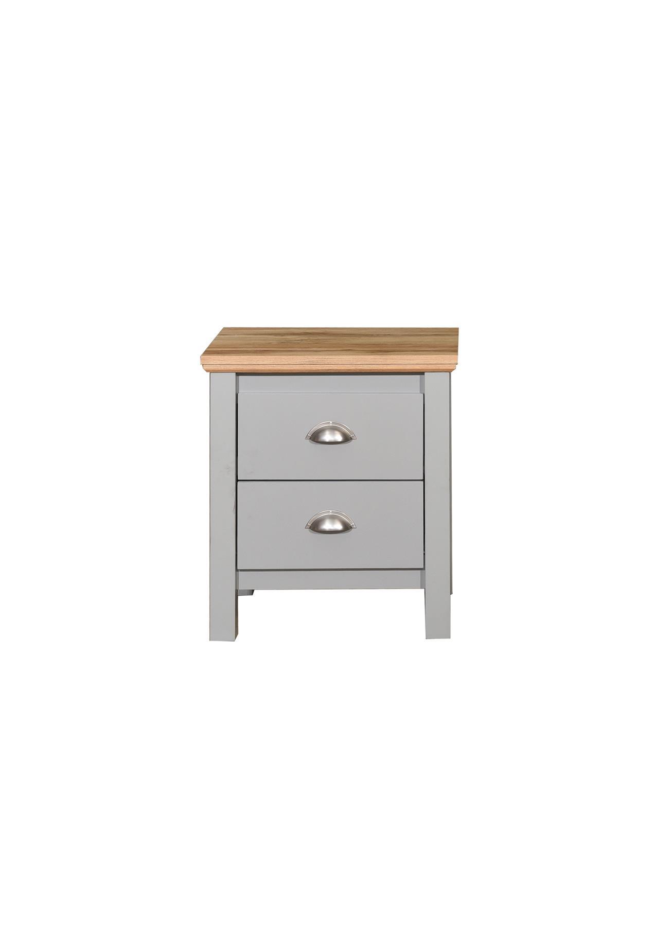 Stool Bedside Table: Eaton Grey Bedroom Furniture Bedside Wardrobe Chest