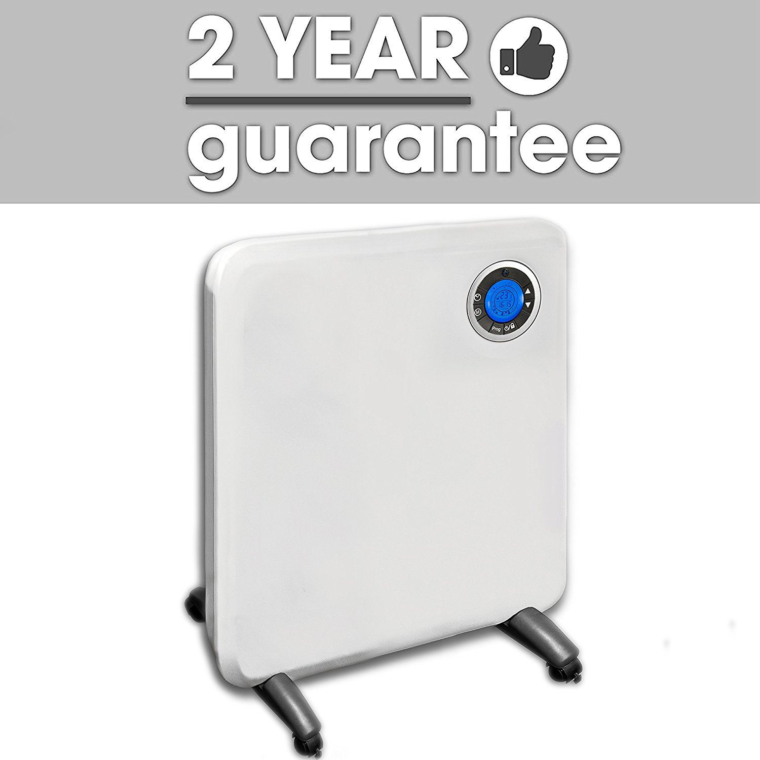 Electric panel heater radiator thermostat with timer wall - Electric bathroom radiators with timer ...