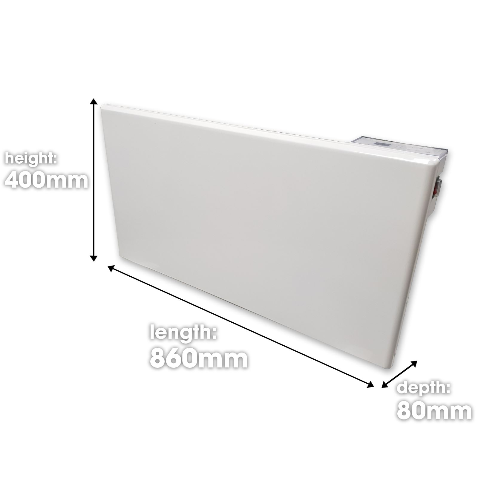 Electric Panel Heater Radiator With Timer Thermostat Wall