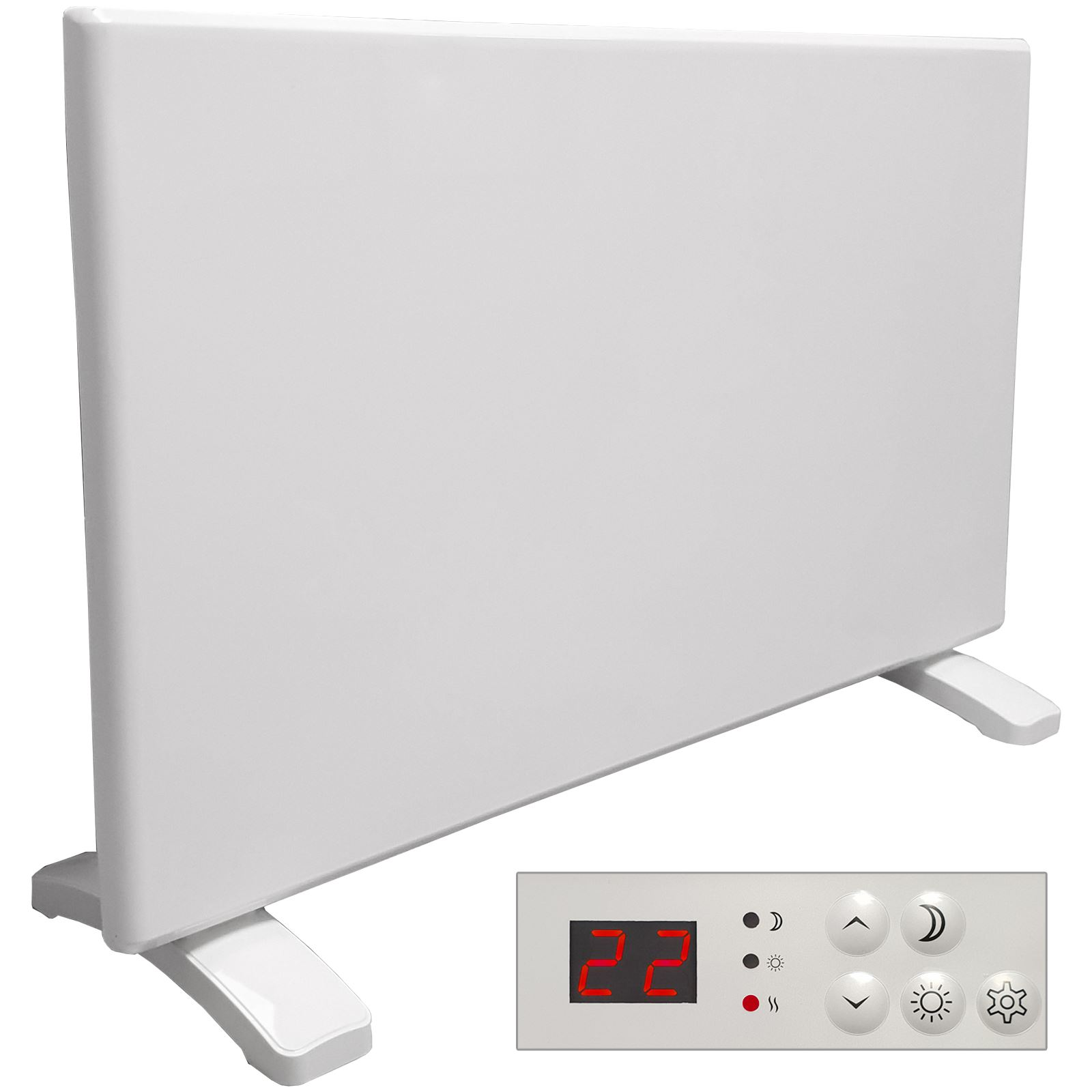 Electric panel heater radiator with timer thermostat wall - Electric wall mounted heaters for bathrooms ...