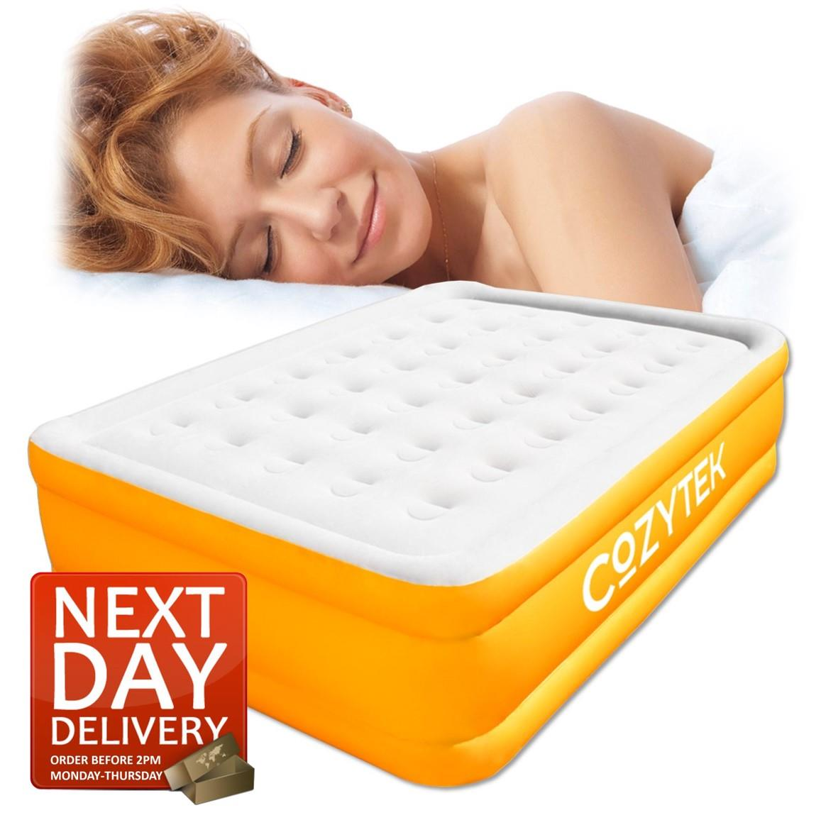Double Air Bed Blow Up Bed Inflatable Air Mattress With Built In Electric Pump 5060452748337 Ebay