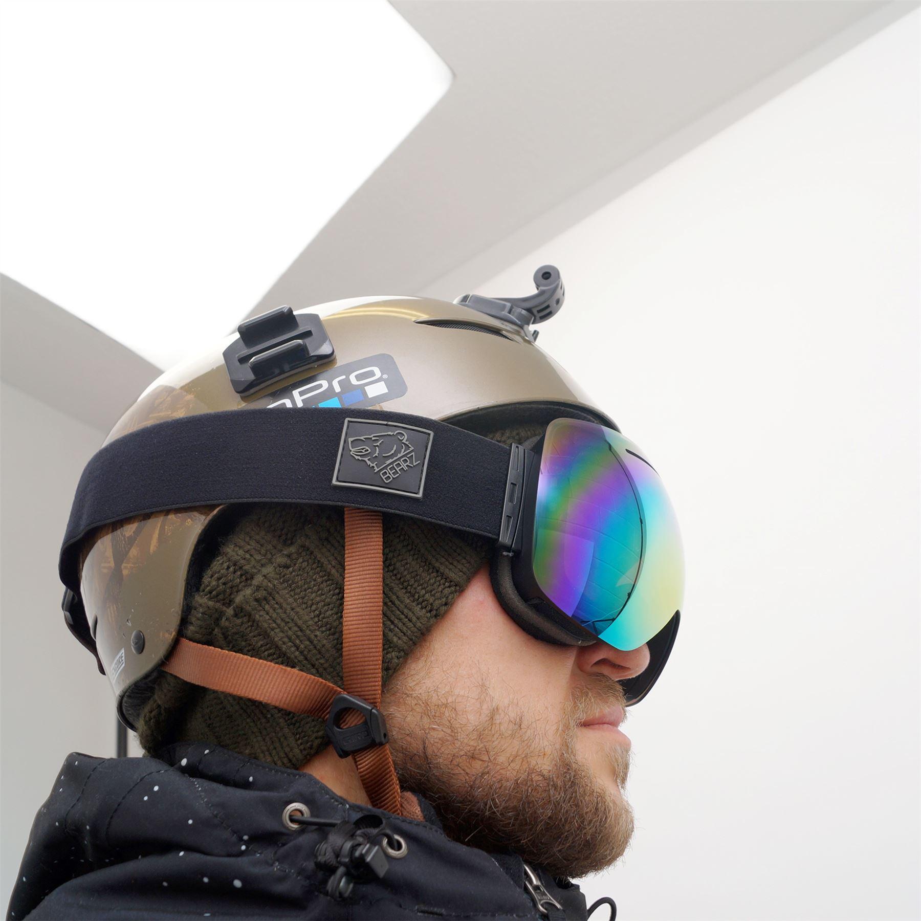 9bcd9b7acd5 Bearz Yeti Magnetic Frameless Snow Snowboard Ski Goggles Mirror Anti ...