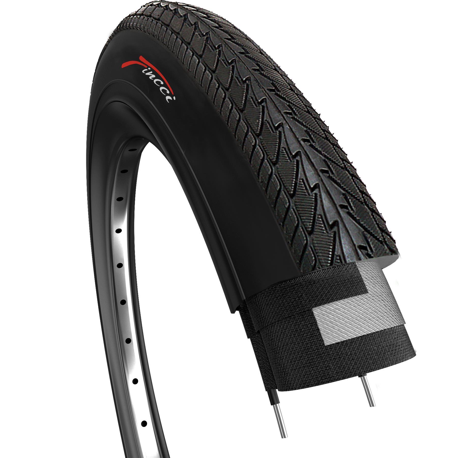 "2 x Fincci 26/"" x 1.50/"" Slick Road Mountain Hybrid Bike Bicycle Tyres Pair"