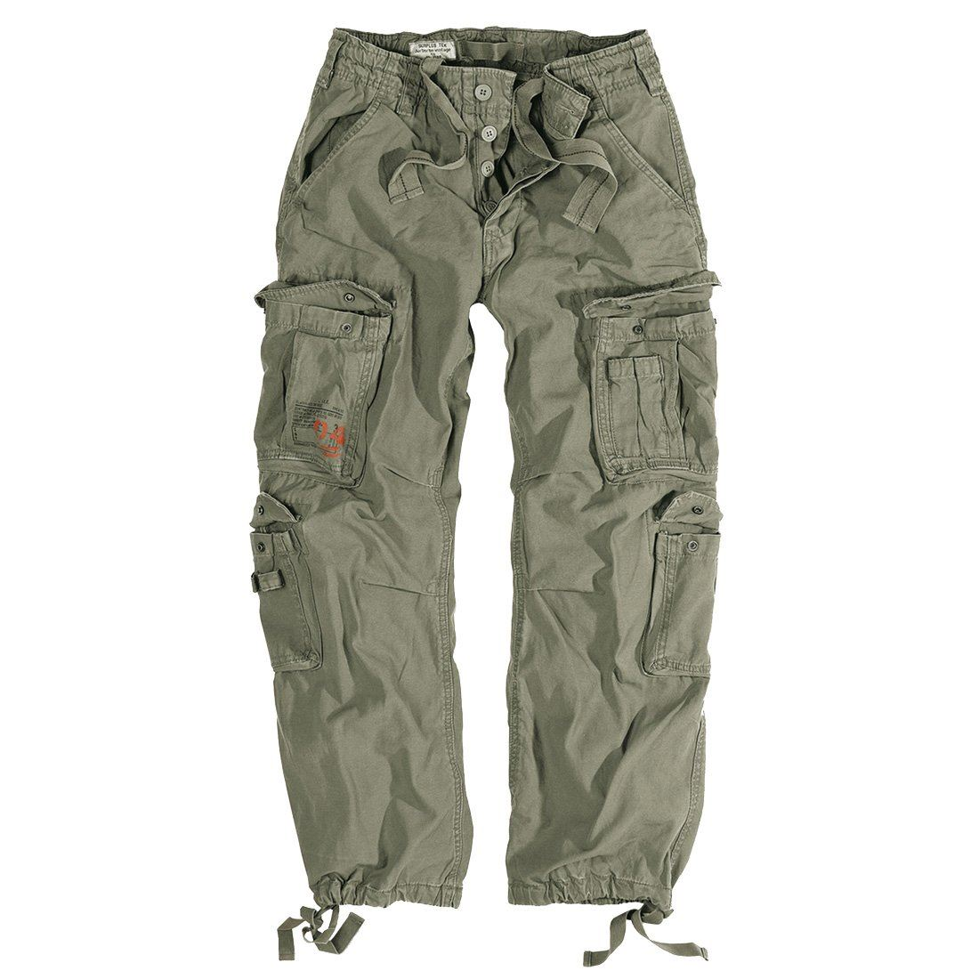 SURPLUS AIRBORNE MILITARY CARGO TROUSERS MENS ARMY VINTAGE COMBAT WORKWEAR  PANTS. Click on the Image to Enlarge 4d968759554