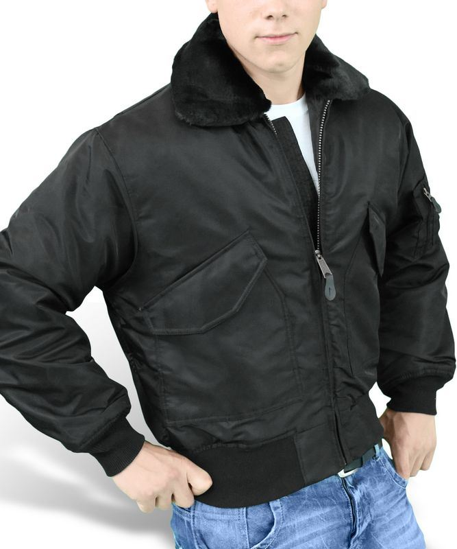 SURPLUS CWU MA2 FUR COLLAR FLIGHT JACKET US PILOT MENS BOMBER SECURITY  WEAR. Click on the Image to Enlarge 3823392a12