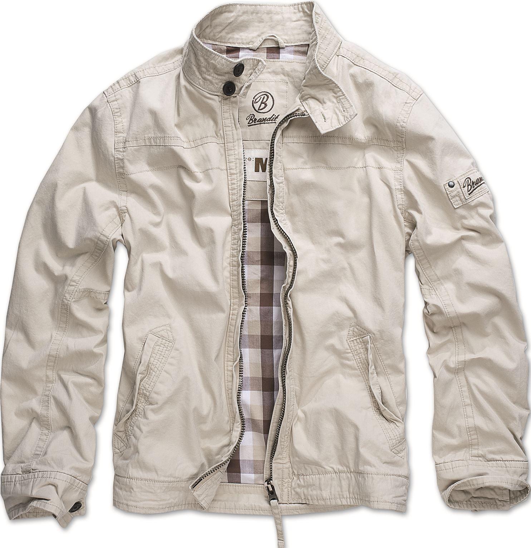 Mens jacket casual - Brandit Mens Casual Yellowstone Jacket Long Sleeve Biker Motorcycle Coat
