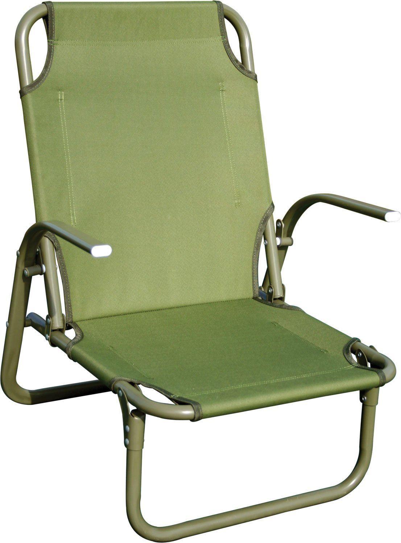 HIGHLANDER KIRKIN STEEL FOLDING BEACH CHAIR CAMPING COMPACT STRONG SEAT