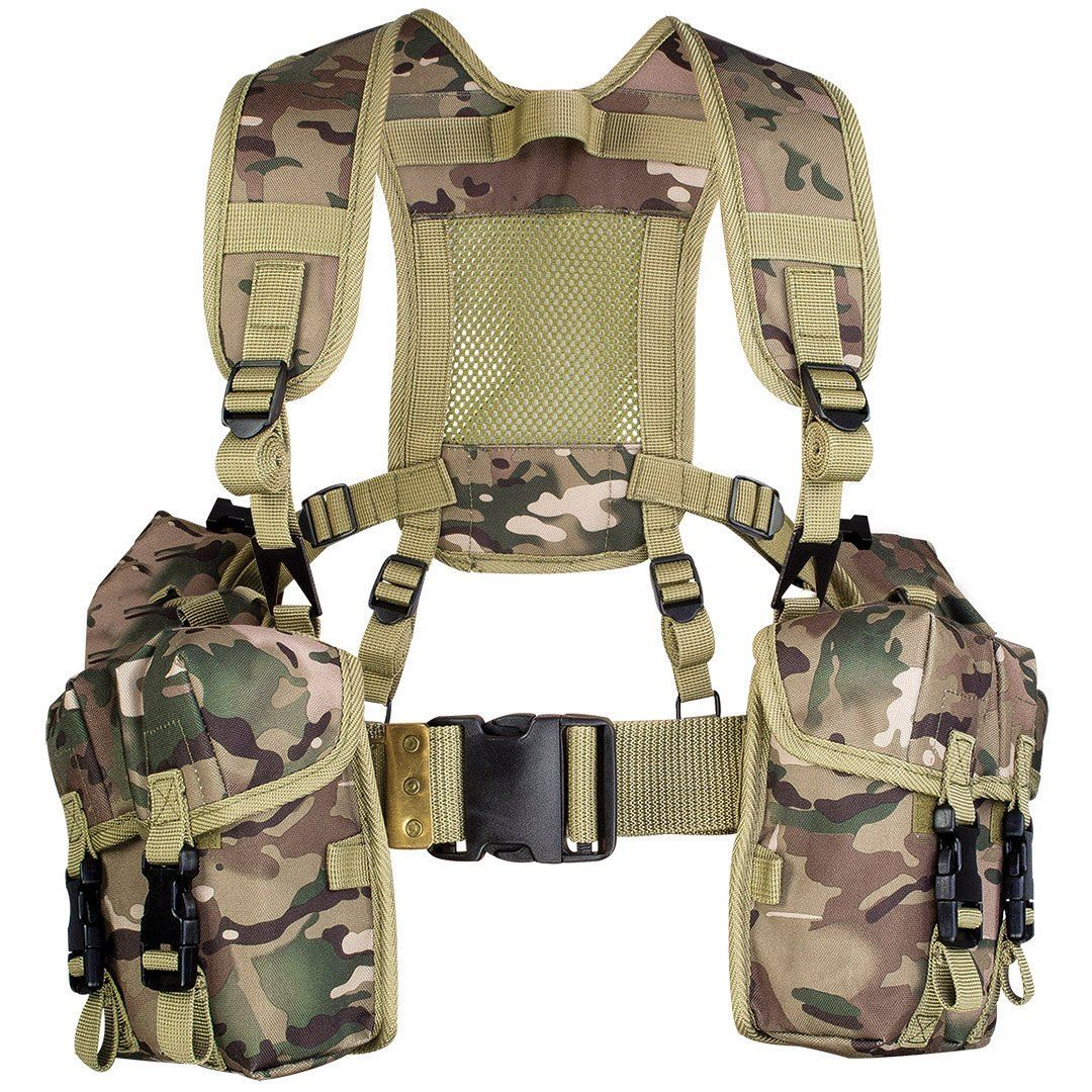 HIGHLANDER FULL PLCE WEBBING SET TACTICAL MILITARY HUNTING HUNTING HUNTING CARGO VEST HMTC CAMO 1e35a7