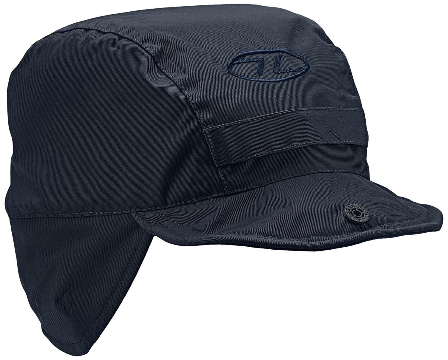 Highlander Black Water Resistant Breathable Outer Fleece Lined Mountain Hat