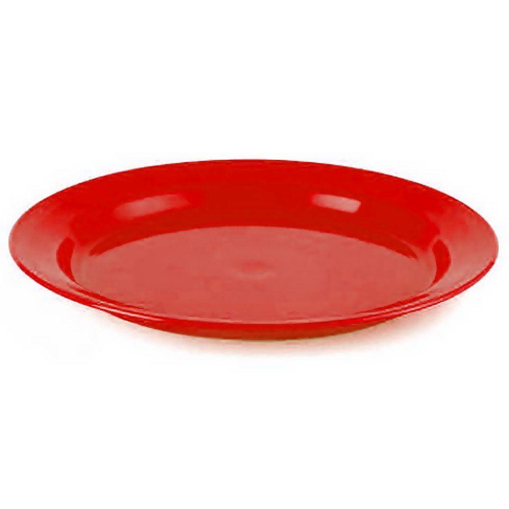 Highlander 24cm Flat Food Plate Camping Microwave Safe Travel Eating Dish Olive