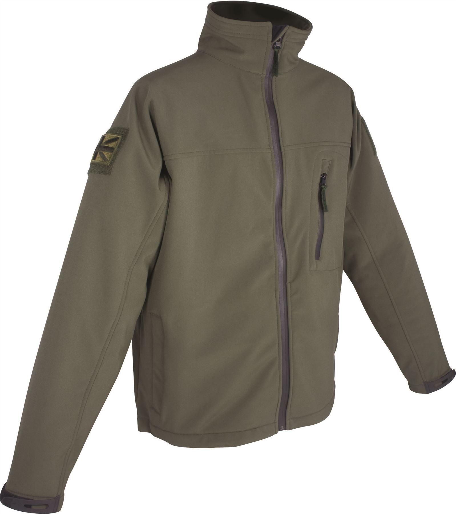 WEB-TEX TACTICAL SOFTSHELL JACKET ARMY SECURITY GREEN ...
