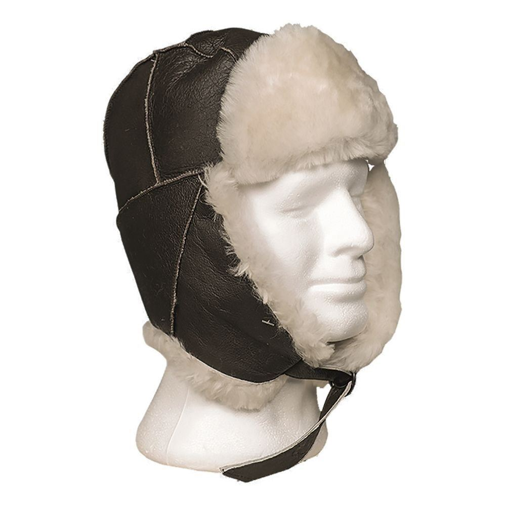 Us Pilot Brown B3 Aviation Af Sheepskin tec Hat Mil Leather RqAItp