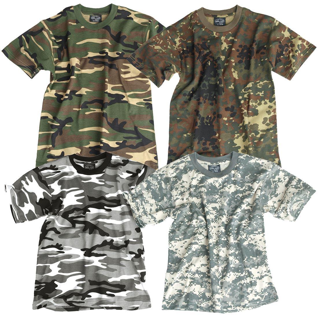 Mil-tec T-shirt Kids Camouflage Enfants