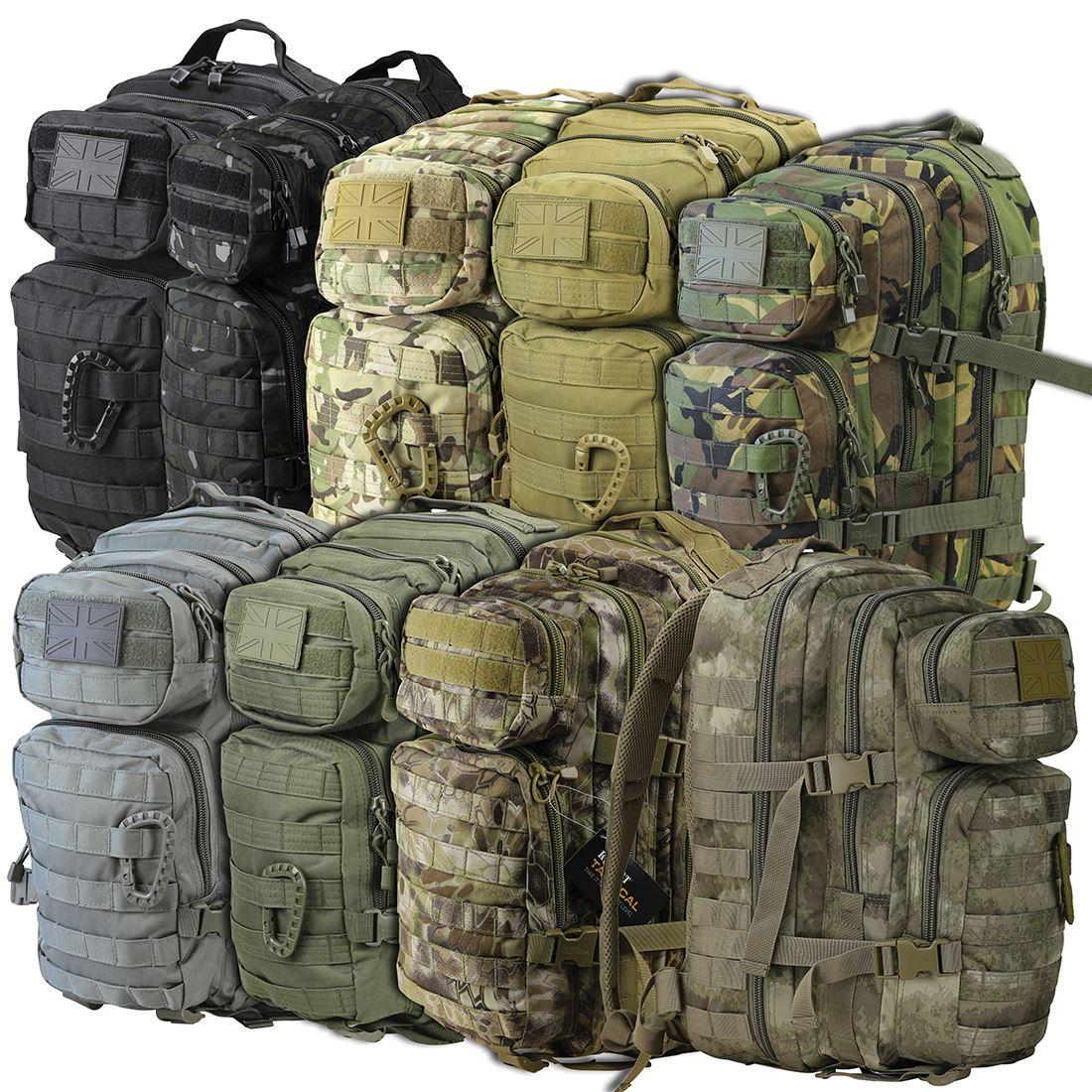 28 Litre MOLLE DAYSACK OLIVE GREEN ARMY STYLE  Assault  Pack RUCKSACK CADET