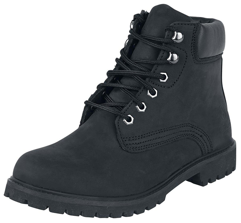 Brandit Leatherboot Kenyon negro 37 cuero liso forrado botas EUR 37 negro 5d5b47
