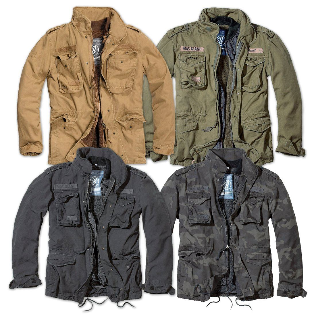 Details about BRANDIT M65 GIANT MENS MILITARY PARKA US ARMY JACKET WINTER WARM ZIP OUT LINER