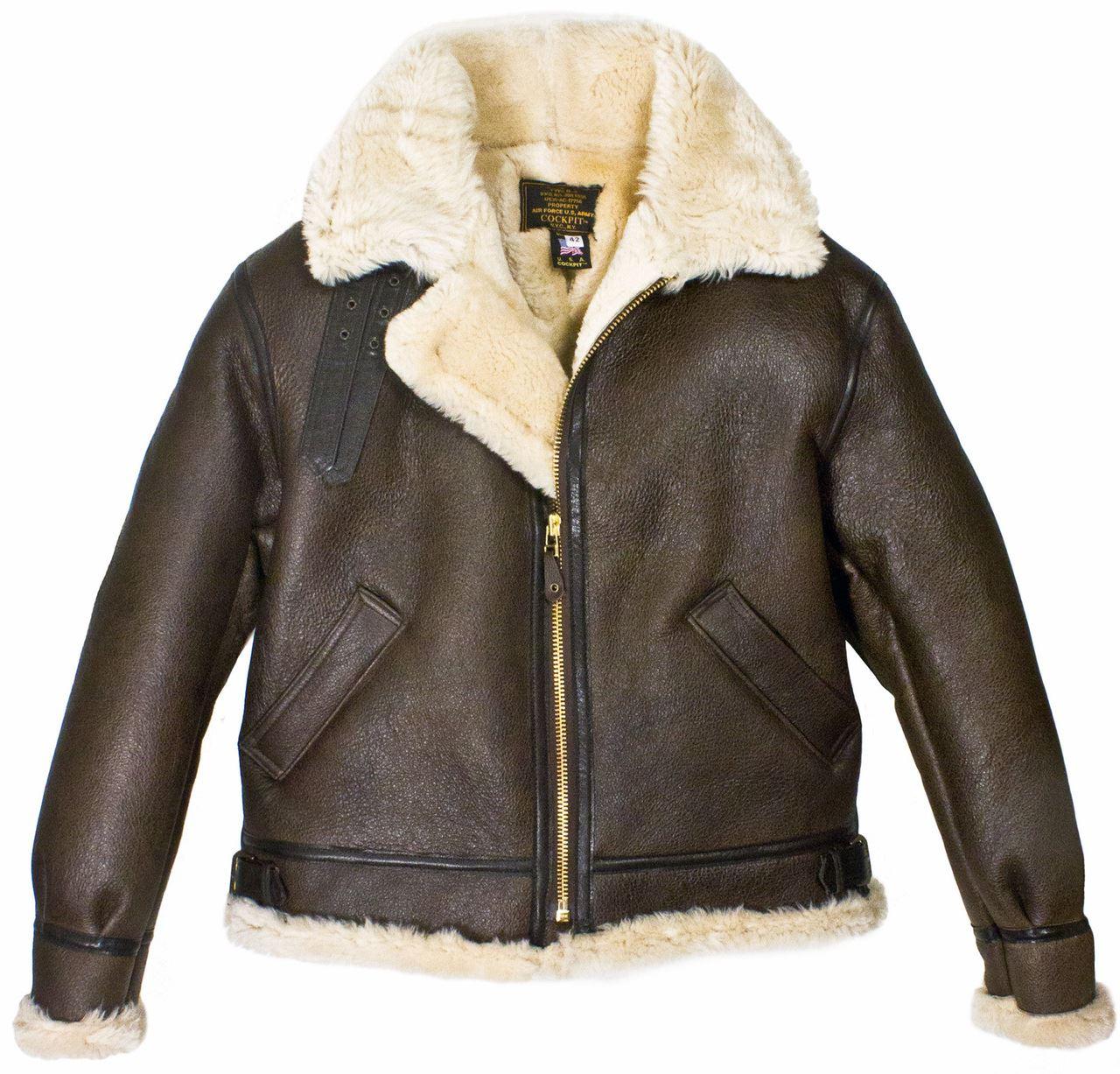 Click on the Image to Enlarge. Mil-Tec US B3 Sheepskin Leather Flight Jacket d027824d6bd