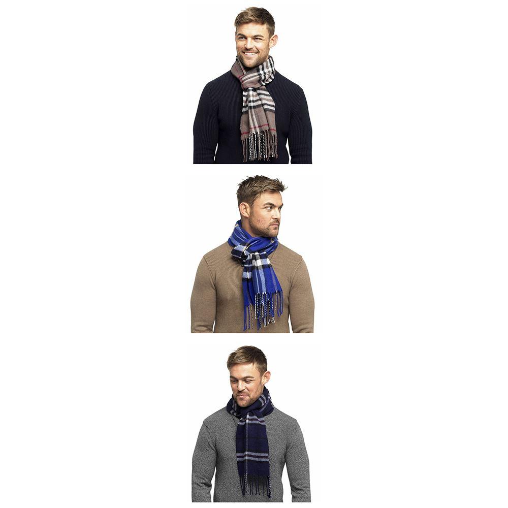 Mens Fine Soft Herringbone Textured Weave Scarf by RJM