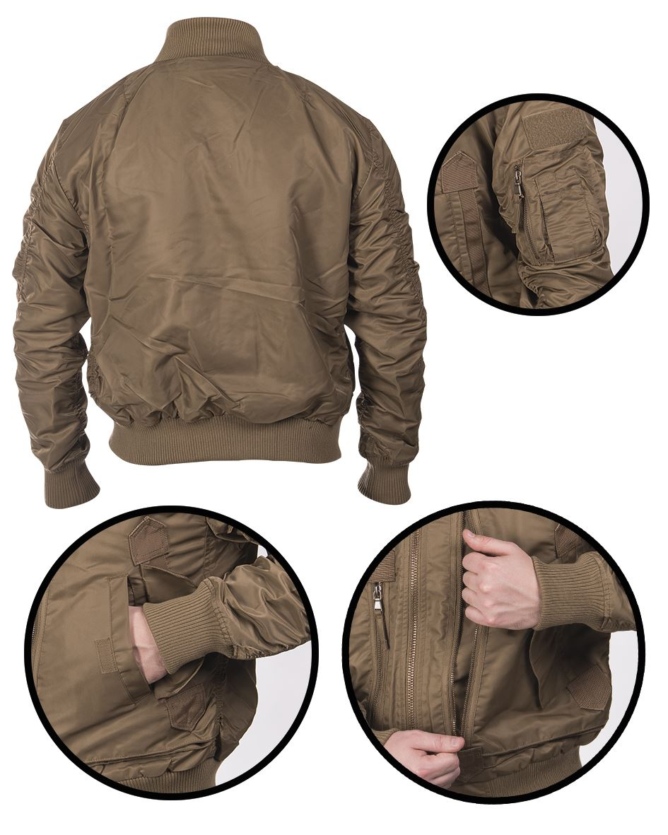 MIL-TEC-US-TACTICAL-FLIGHT-JACKET-MILITARY-OUTDOOR-STYLE-WARM-BRAND-NEW thumbnail 3