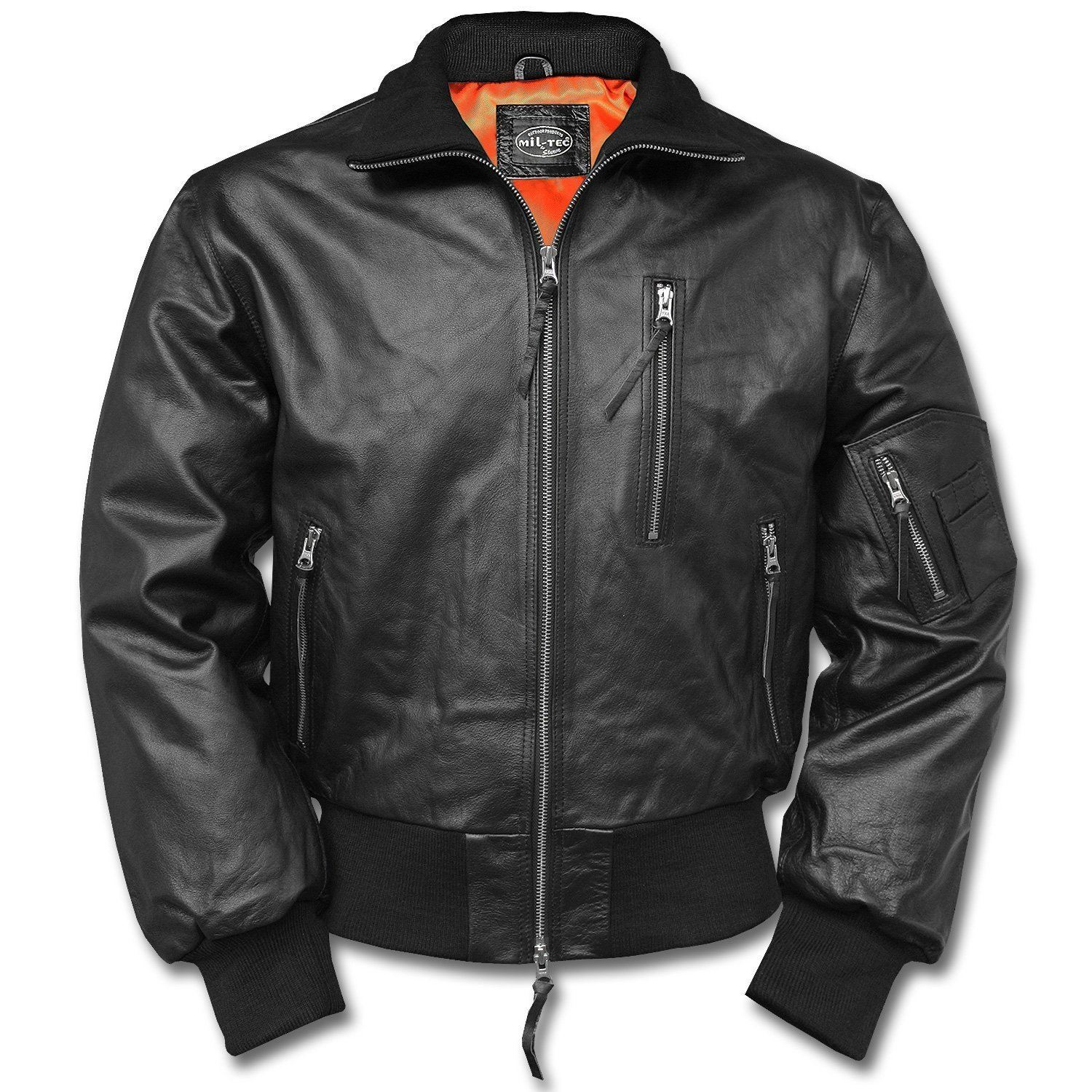 Details about MIL TEC CLASSIC GERMAN LEATHER FLIGHT JACKET MENS ARMY STYLE PILOT BOMBER COAT