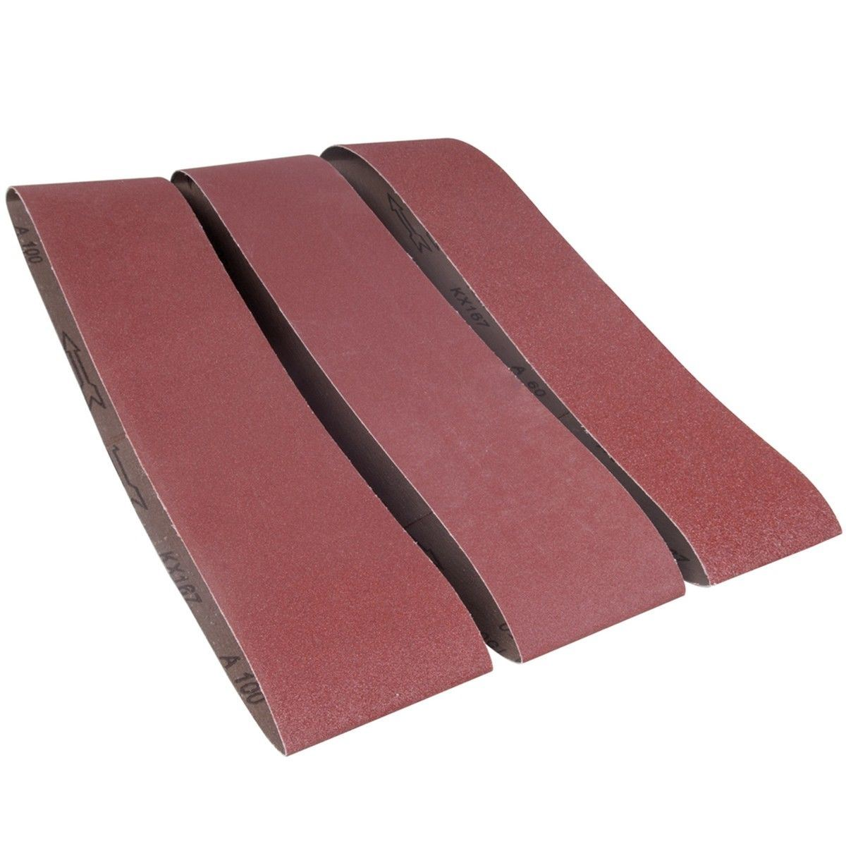 Sanding Belts 75 X 533Mm 5Pk 80 Grit Silverline 433236