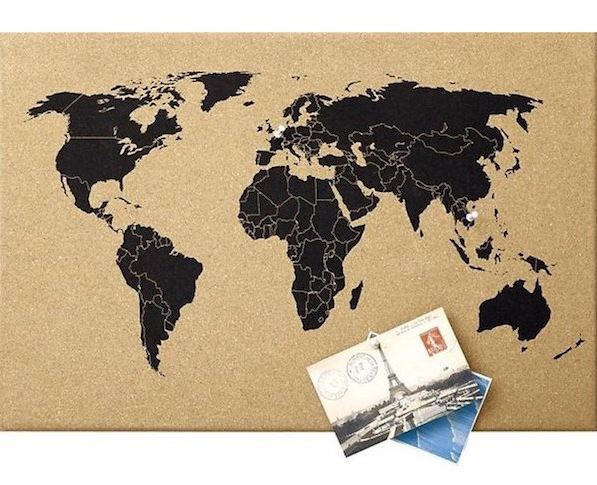 World map corkboard memo board home office pin board travel holiday world map corkboard memo board home office pin board travel holiday gift gumiabroncs Images