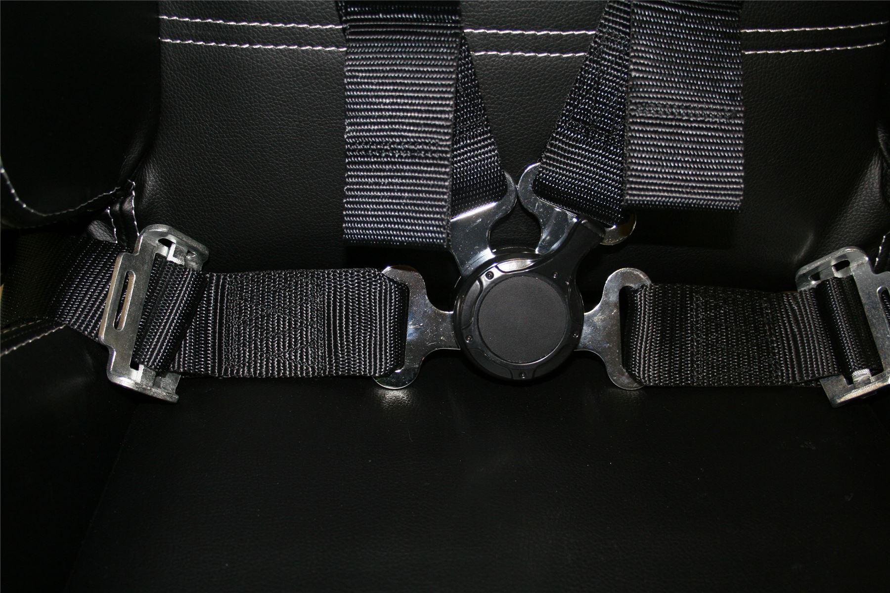 Raptor 4x4 Safety Belts 4 Points 2 Black Harness Seat Belt Off Road Racing