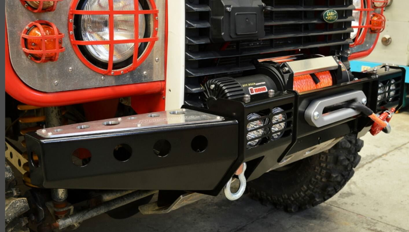 Raptor 4x4 Front Squared Winch Bumper With Land Rover Defender Item Specifics