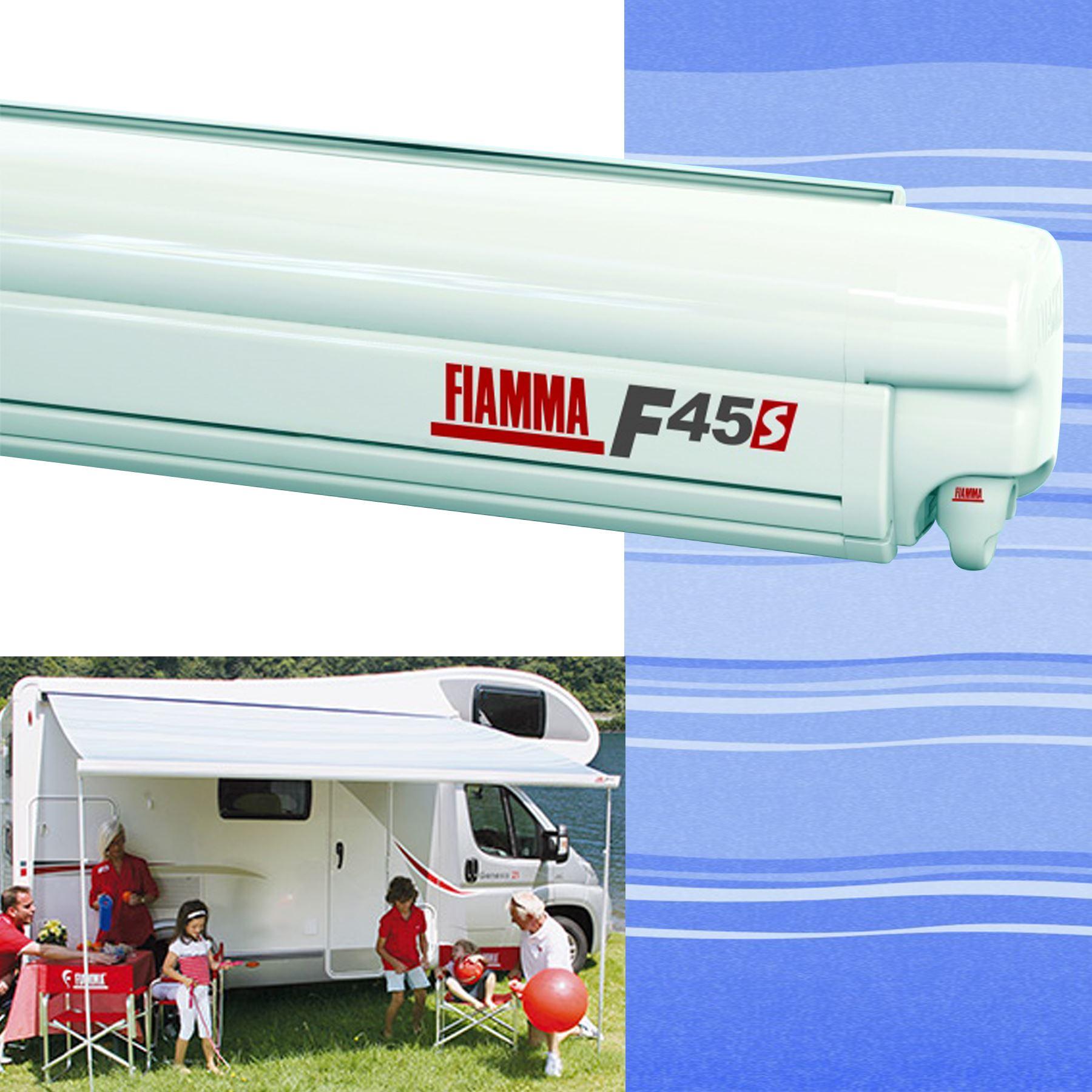 Fiamma F45 S Awning Polar White 3 5m Blue Ocean Motorhome