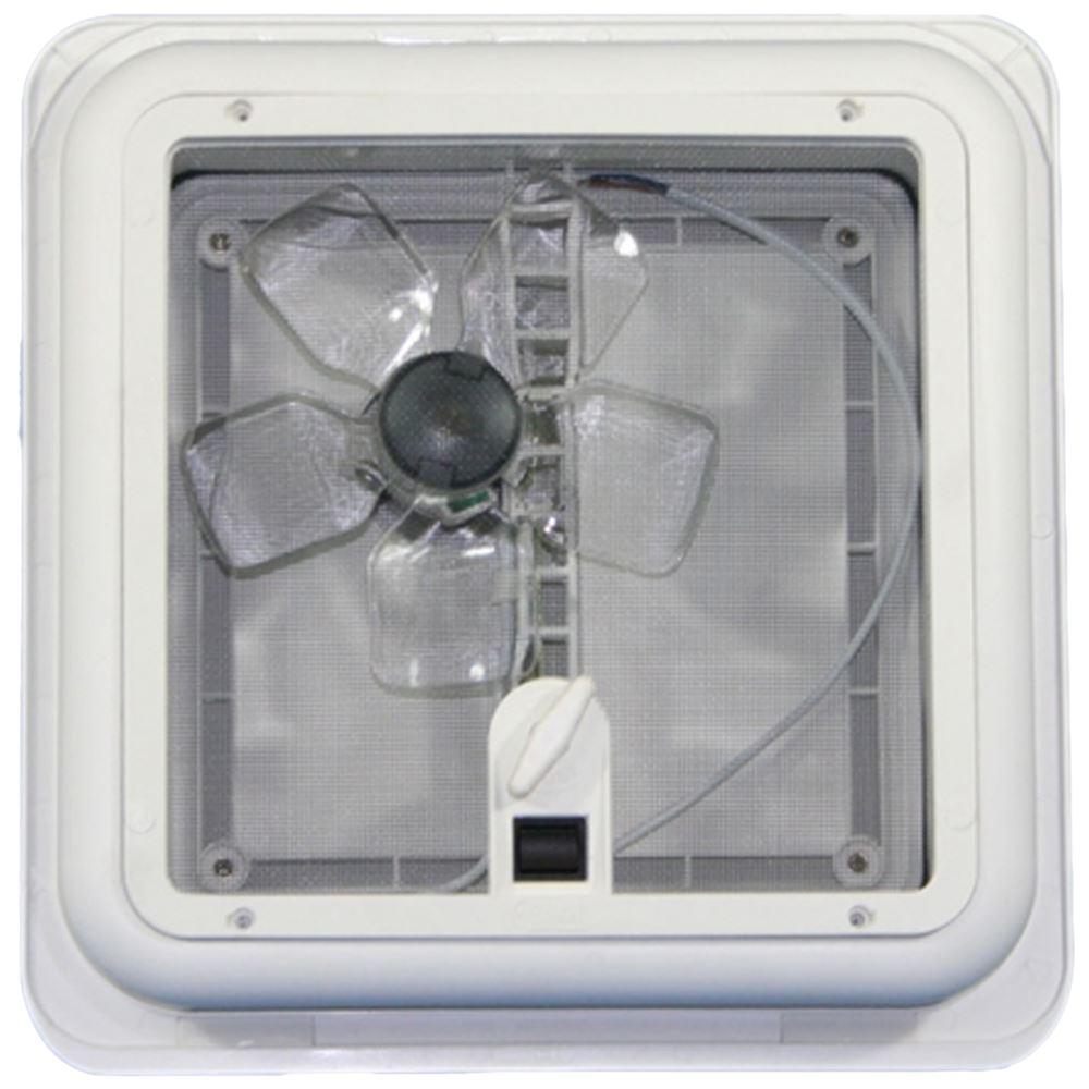 Fiamma Roof Vent Turbo Fan 28 White Sky Light 280mm Flynet