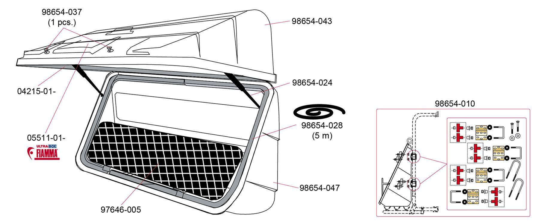 Fiamma Ultra Box 500 Rear Mount Storage Caravan Motorhome Carry Bike European House Wiring Diagrams Item Specifics