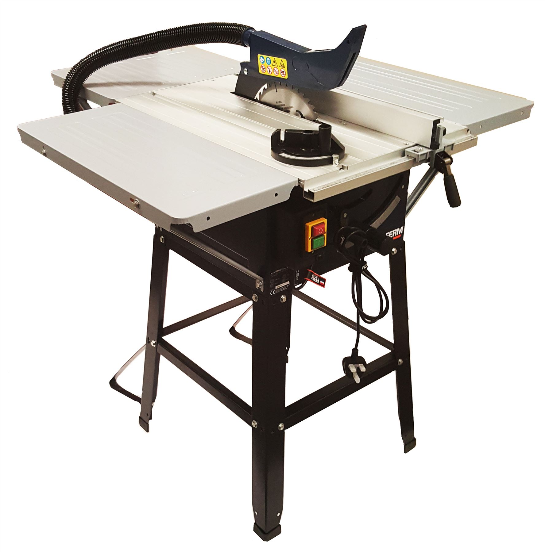 Ferm 1800w 10 250mm Table Saw Triple Side Extension Tables Ebay