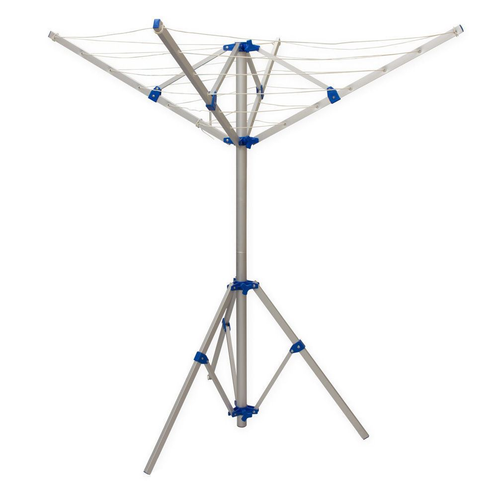 4 arm rotary clothes airer washing line portable aluminium. Black Bedroom Furniture Sets. Home Design Ideas