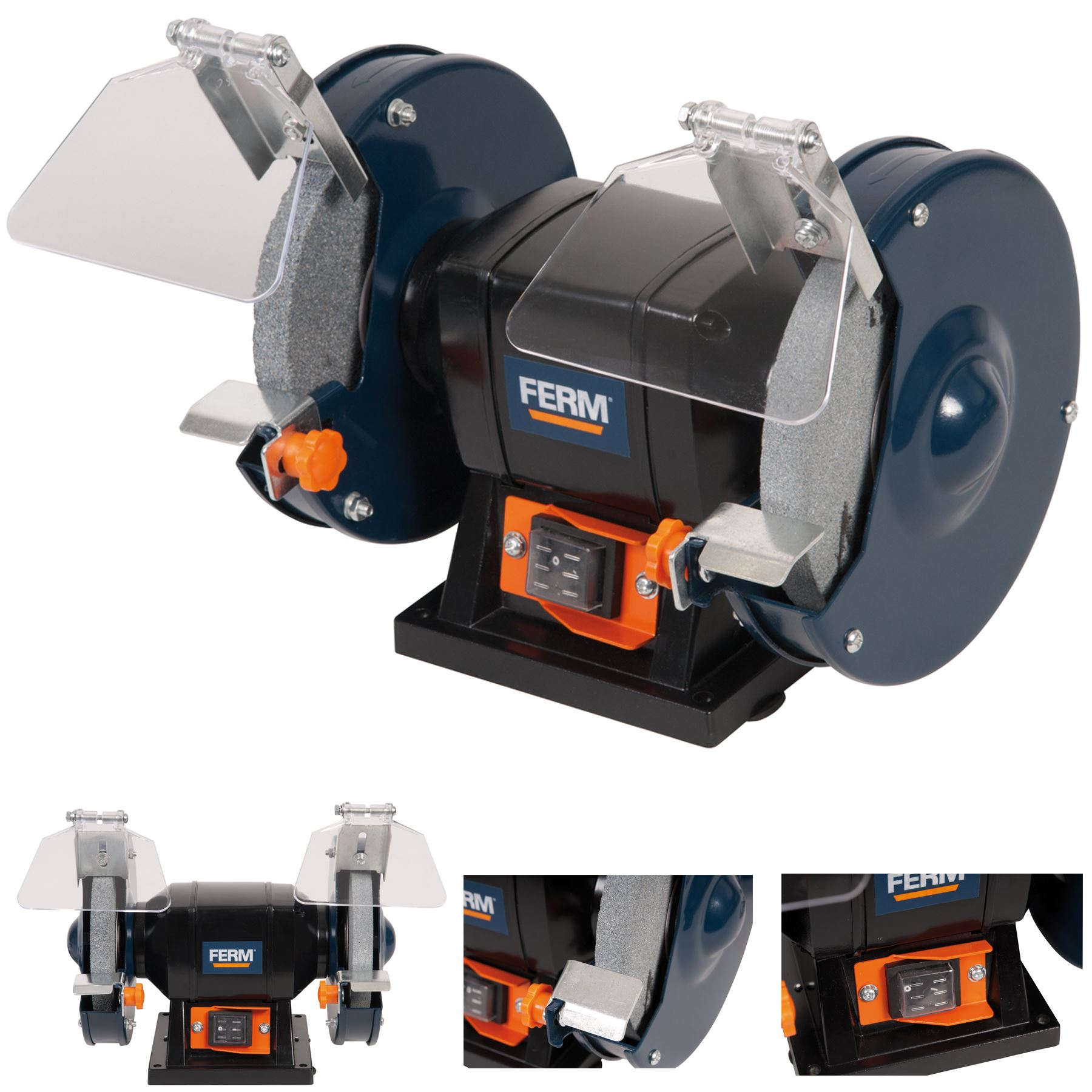 Bench Grinder 150w 6 Quot 150mm Twin Grinding Stone Workshop