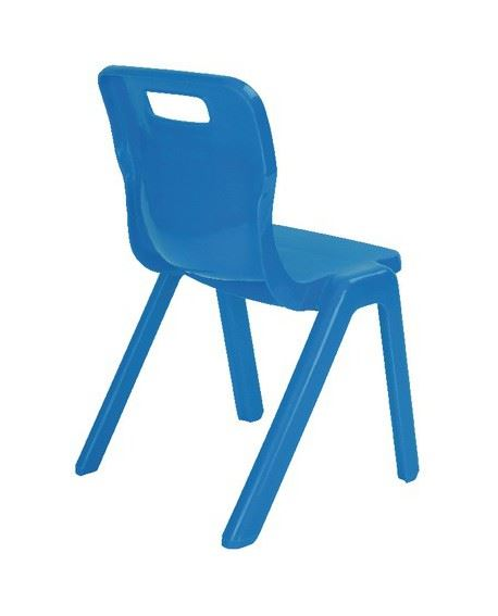 Size 4 for Ages 8-9 Years Yellow Titan One Piece Classroom Chair Pack of 4 Plastic