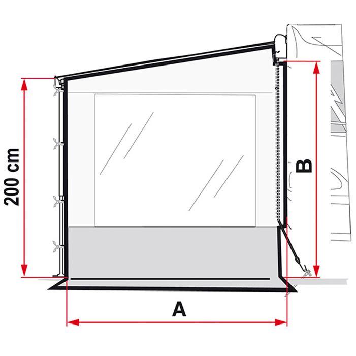 Fiamma Side Wall Pro Panel Blocker F45 Awning Panel ...