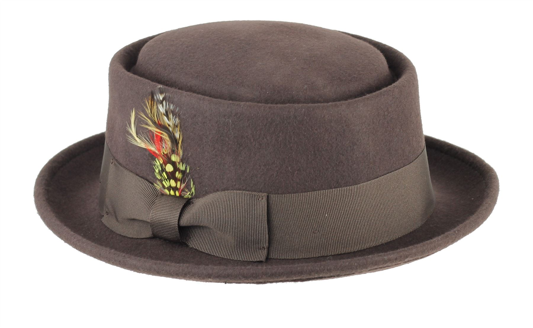 Mens Women Vintage Crushable 100 Wool Pork Pie Felt Breaking Bad Heisenberg  Hat Xl(59-60 Cm) Brown. About this product. Picture 1 of 4  Picture 2 of 4  ... d0779c291e02