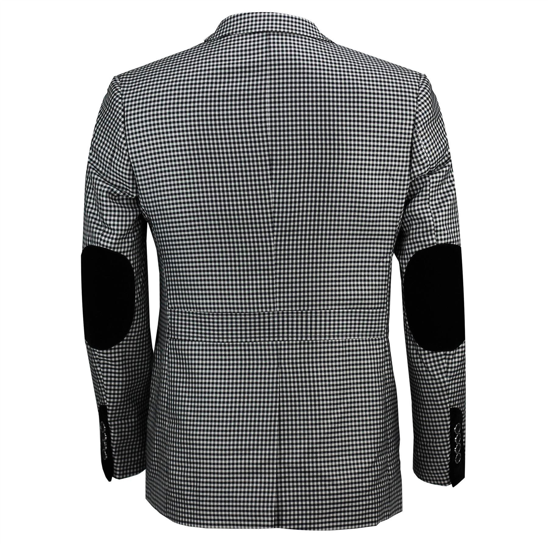 60s mod clothing retro style black & white blazer jacket for men. uk modshopping blazer jacket.