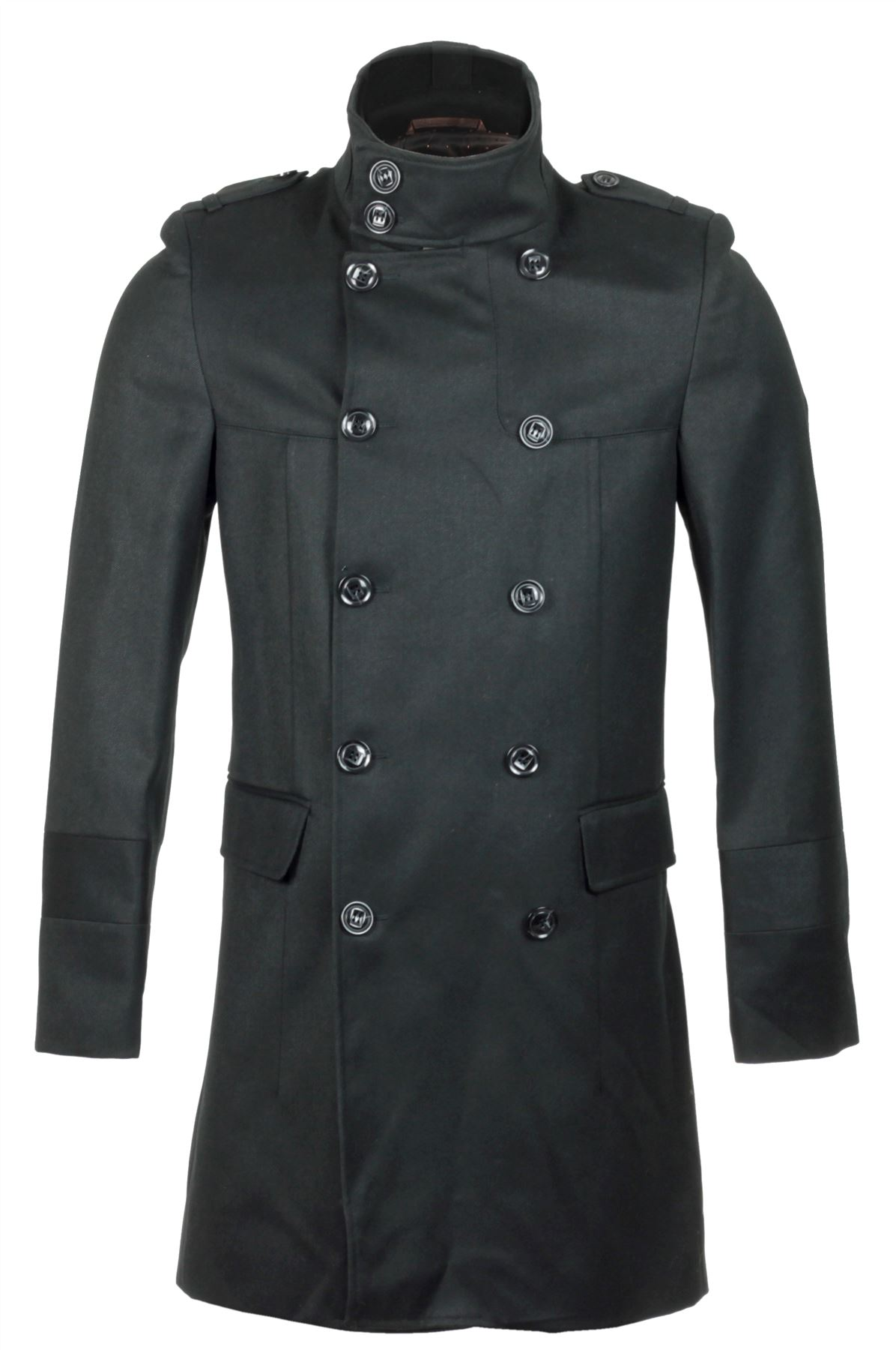 Mens double breasted overcoat